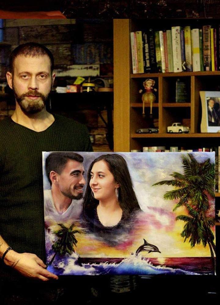 Yağlıboya Portre Çalışmaları - Sanatsal Hediyeler İstanbul ümraniye pendik galata