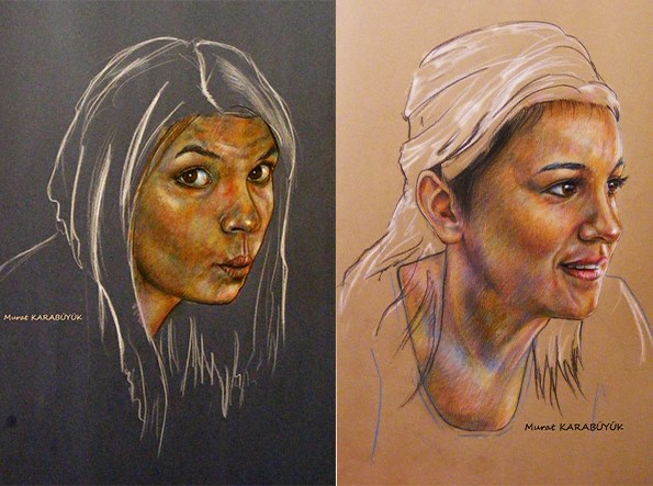 pastel portre çizim istanbul ankara sanat kadıköy resim hediye ressam 22