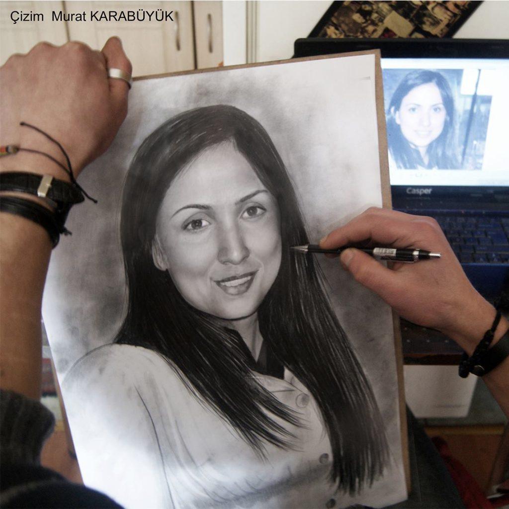 Karakalem Portre Sevgili Hediye İstanbul ankara 74