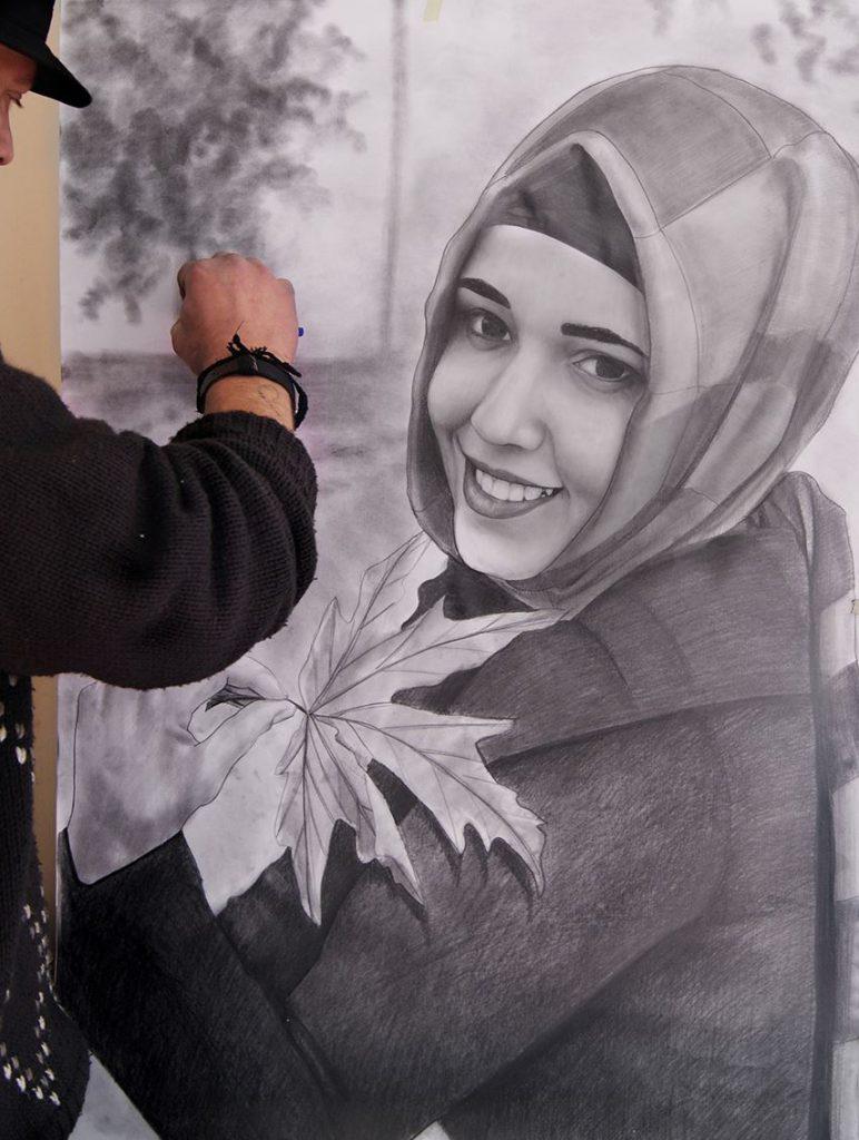 Karakalem Portre Sevgili Hediye İstanbul ankara 71