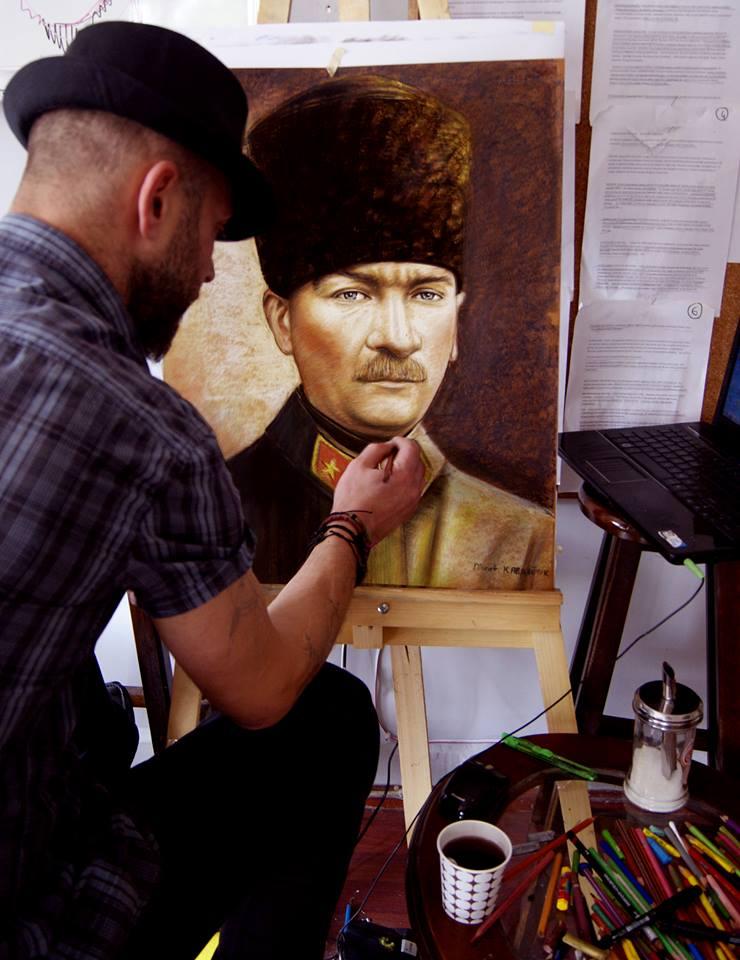 pastel portre çizim istanbul ankara sanat kadıköy resim hediye ressam atatürk