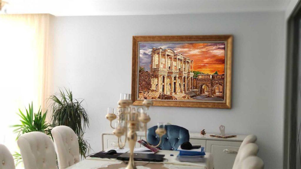 yağlıboya manzara istanbul ankara sanat resim 1
