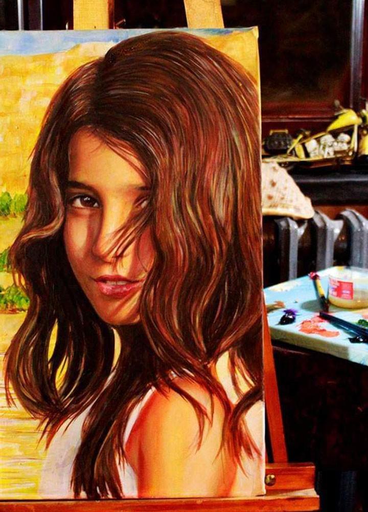 Yağlıboya Portre Çalışmaları - Sanatsal Hediyeler İstanbul ümraniye pendik galata nişantaşı bebek 12