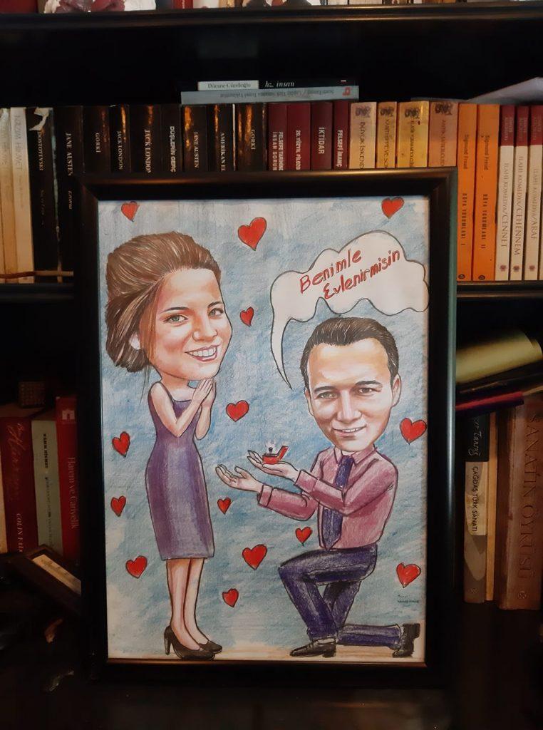 karikatür portre hediye istanbul ankara komik sanat kadıköy 7