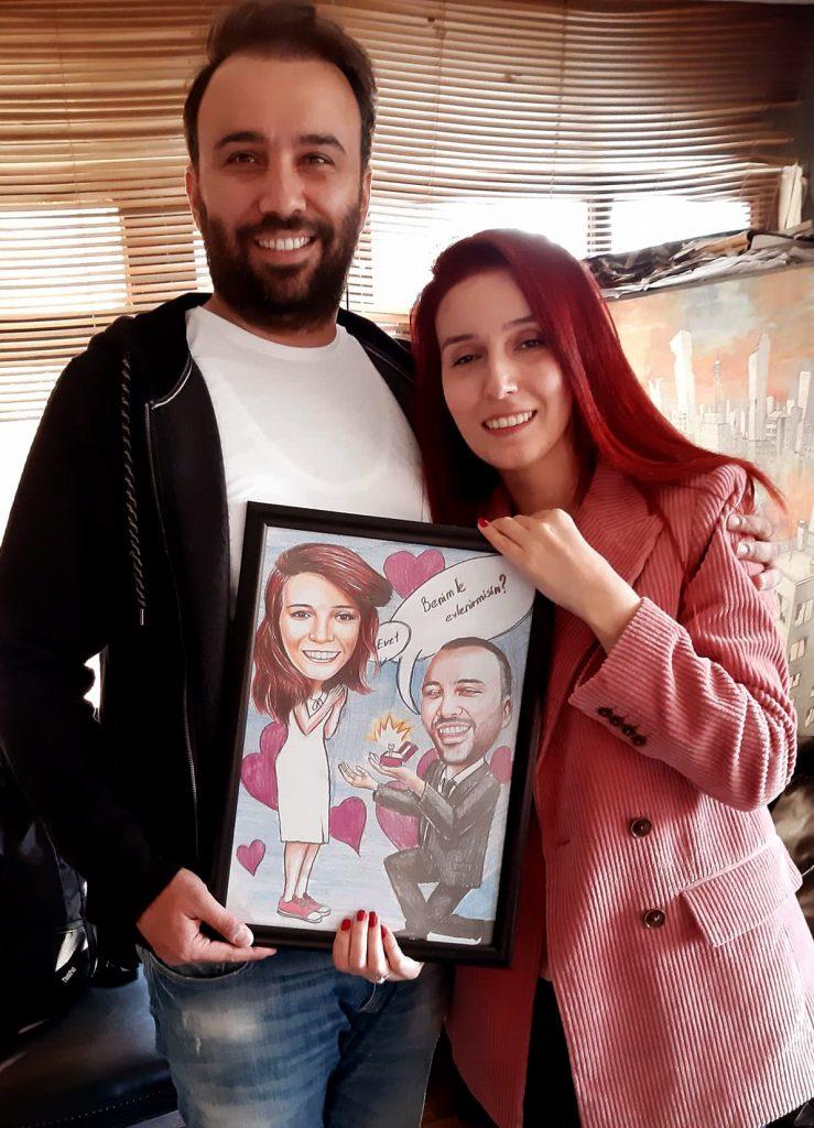 karikatür portre hediye istanbul ankara komik sanat kadıköy 5