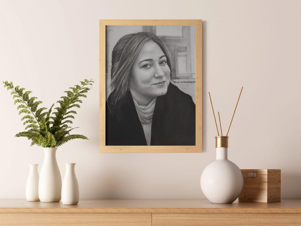 Karakalem Portre Sevgili Hediye İstanbul ankara 18