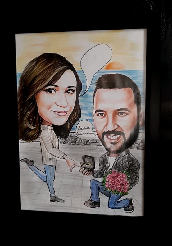 karikatür portre hediye istanbul ankara komik sanat kadıköy 11