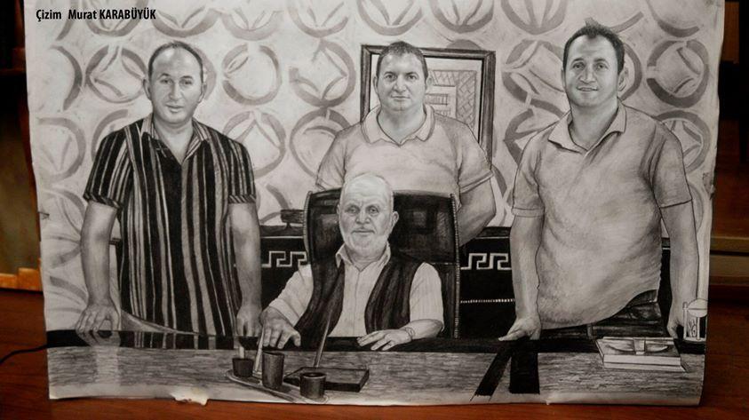 Karakalem Portre Sevgili Hediye İstanbul ankara 68