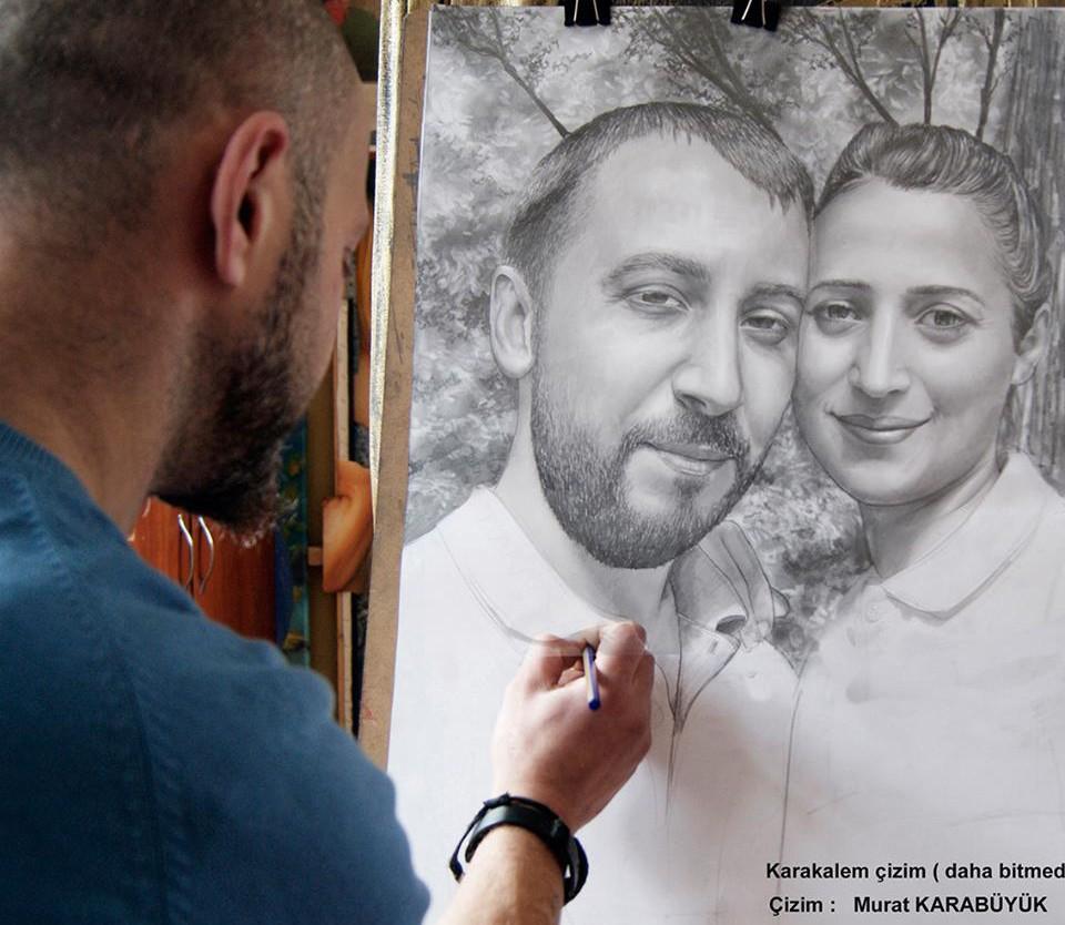Karakalem Portre Sevgili Hediye İstanbul ankara 58