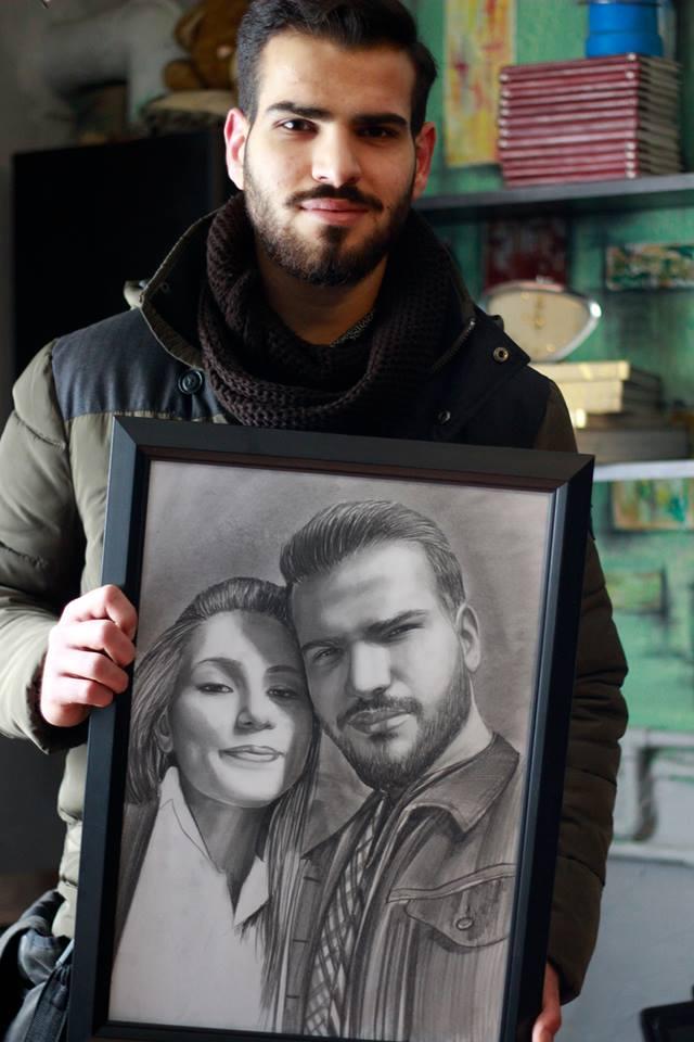 Karakalem Portre Sevgili Hediye İstanbul ankara 48