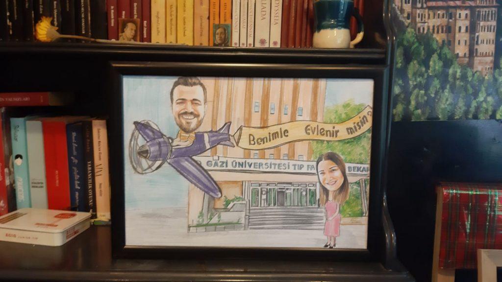 karikatür portre hediye istanbul ankara komik sanat kadıköy 15