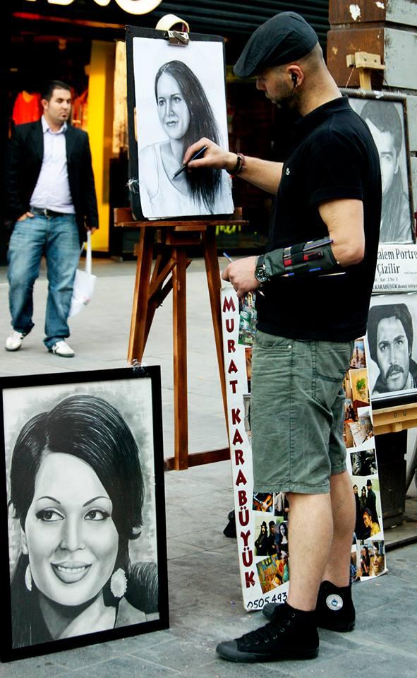 Karakalem Portre Sevgili Hediye İstanbul ankara 12