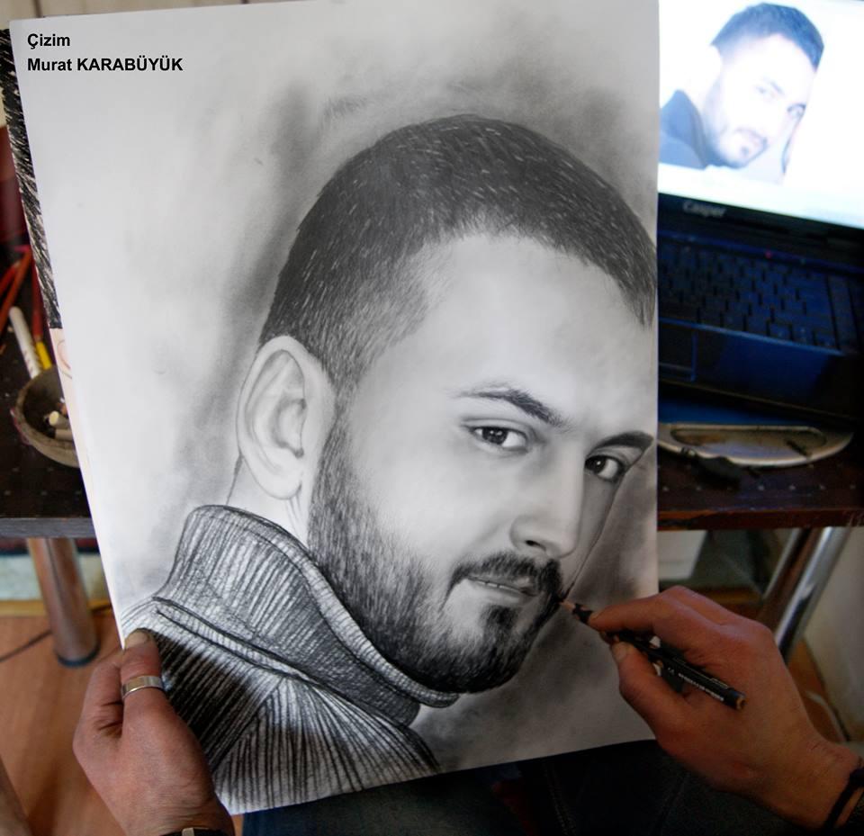 Karakalem Portre Sevgili Hediye İstanbul ankara 39
