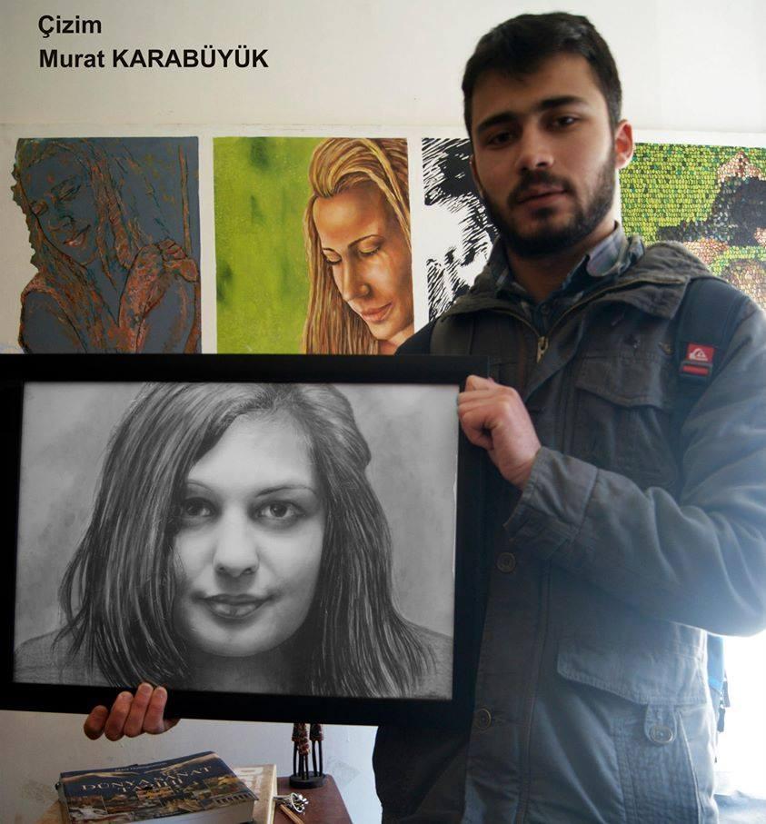 Karakalem Portre Sevgili Hediye İstanbul ankara 33
