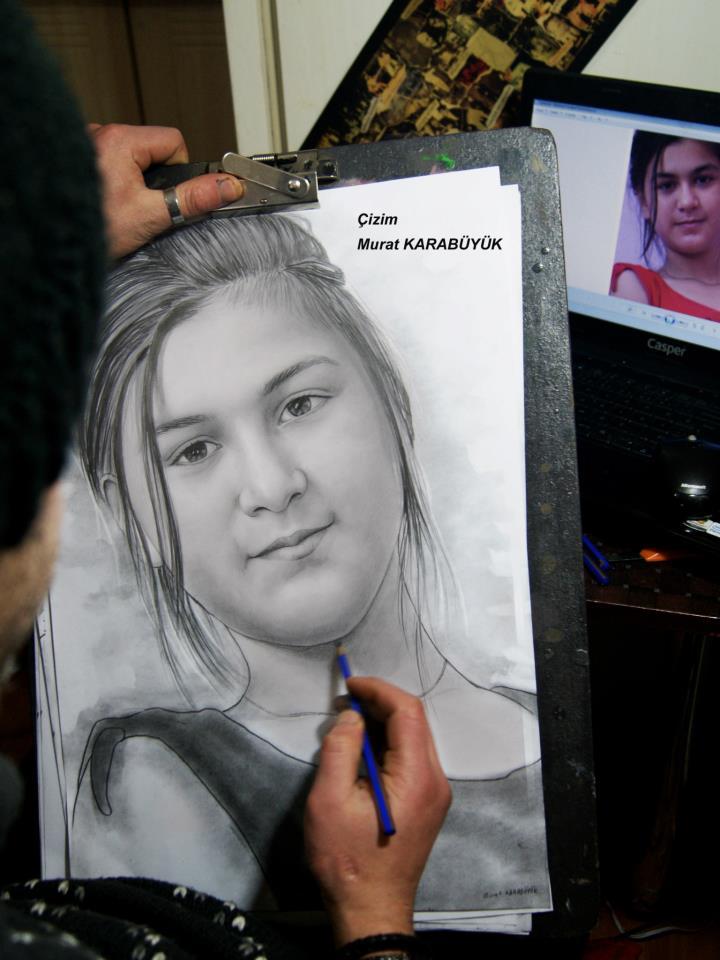 Karakalem Portre Sevgili Hediye İstanbul ankara 25