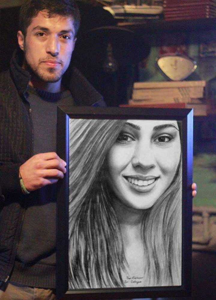 Karakalem Portre Sevgili Hediye İstanbul ankara 22
