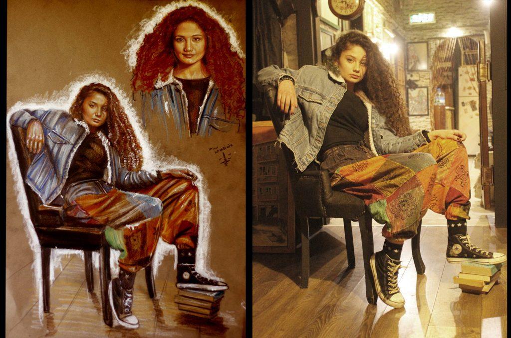 pastel portre çizim istanbul ankara sanat kadıköy resim hediye ressam 9