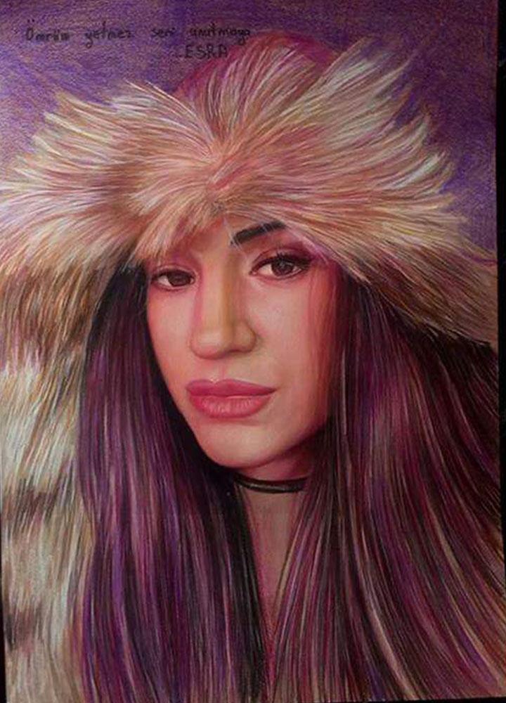 pastel portre çizim istanbul ankara sanat kadıköy resim hediye ressam 5
