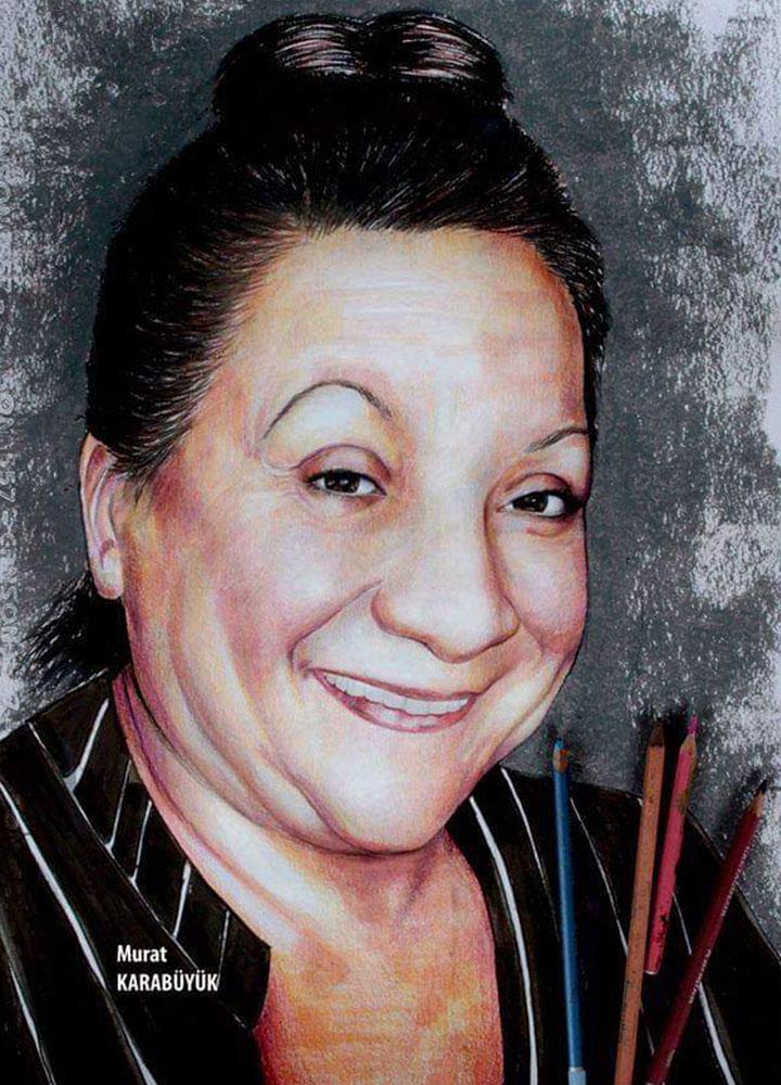 pastel portre çizim istanbul ankara sanat kadıköy resim hediye ressam adile naşit
