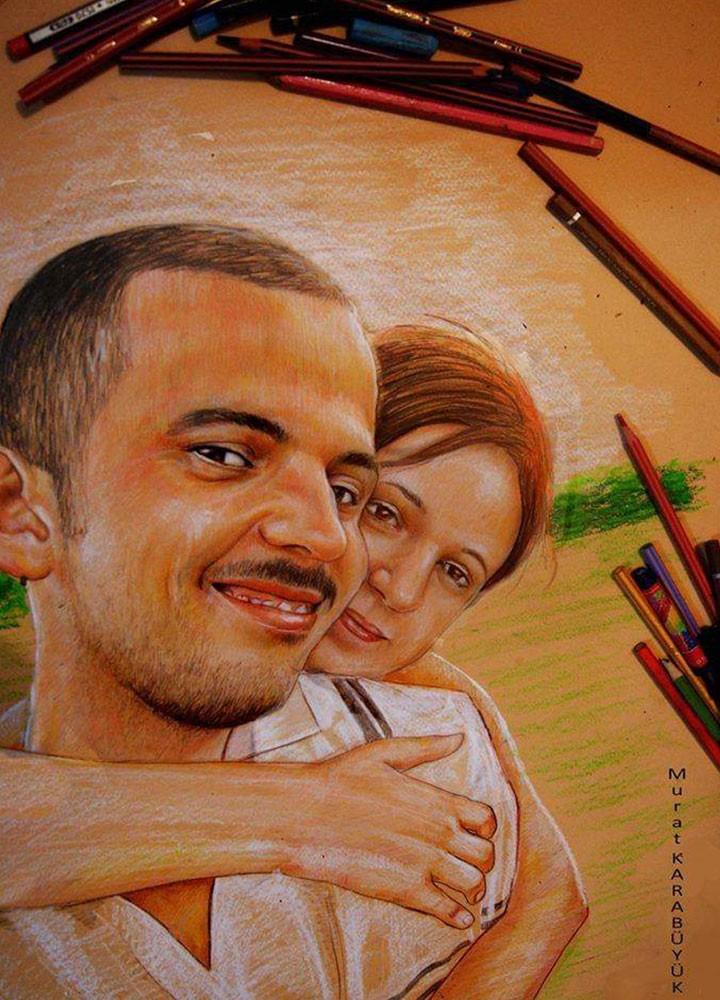 karakalem portre karikatür çizim istanbul ankara sanat kadıköy tattoo resim hediye yağlıboya pastel ressam 4