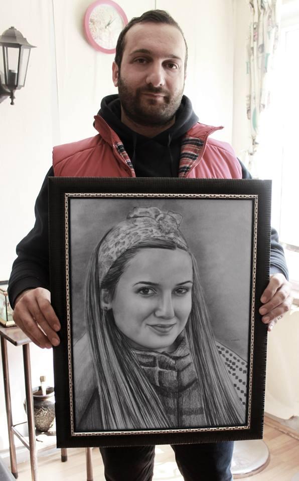 Karakalem Portre Sevgili Hediye İstanbul ankara 9