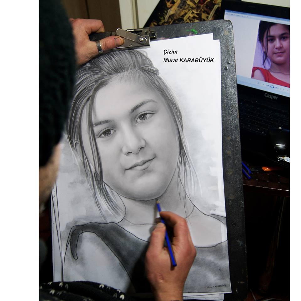 Karakalem Portre Sevgili Hediye İstanbul ankara 66