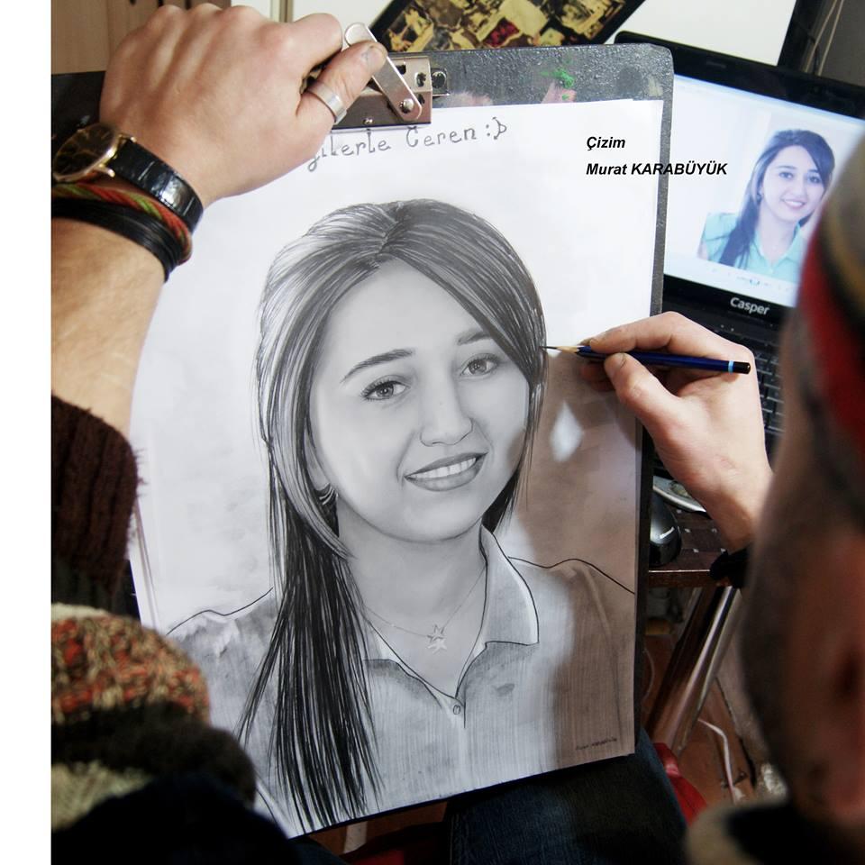 Karakalem Portre Sevgili Hediye İstanbul ankara 65