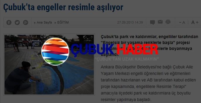 ÇUBUK'TA ENGELLER RESİMLE AŞILIYOR