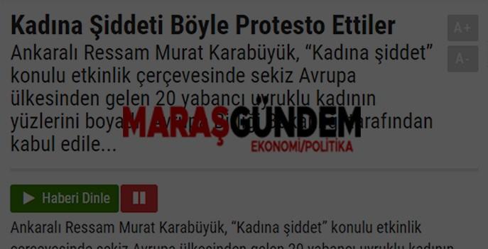 Kadına Şiddeti Böyle Protesto Ettiler