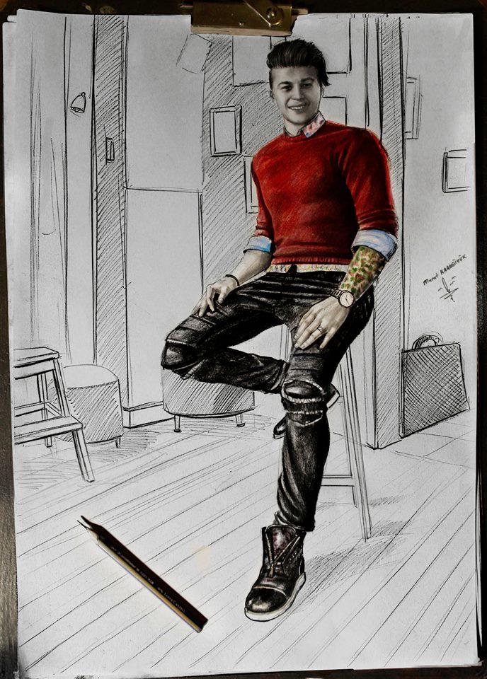 Karakalem Portre Sevgili Hediye İstanbul ankara sanat resim güzel sanatlar 8