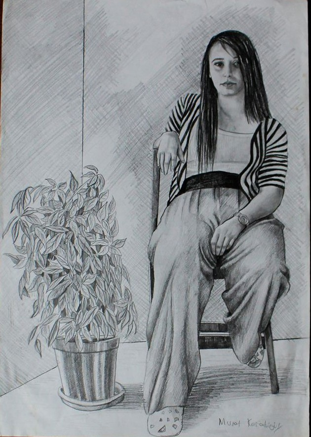 Karakalem Portre Sevgili Hediye İstanbul ankara sanat resim güzel sanatlar 7