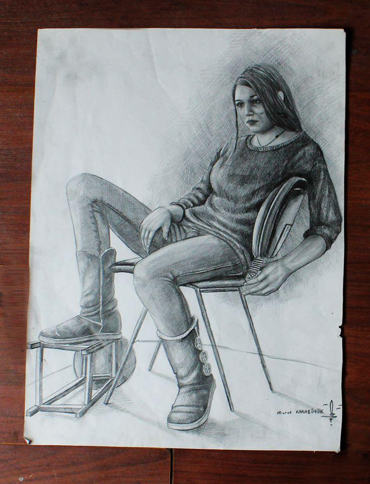 Karakalem Portre Sevgili Hediye İstanbul ankara sanat resim güzel sanatlar 6
