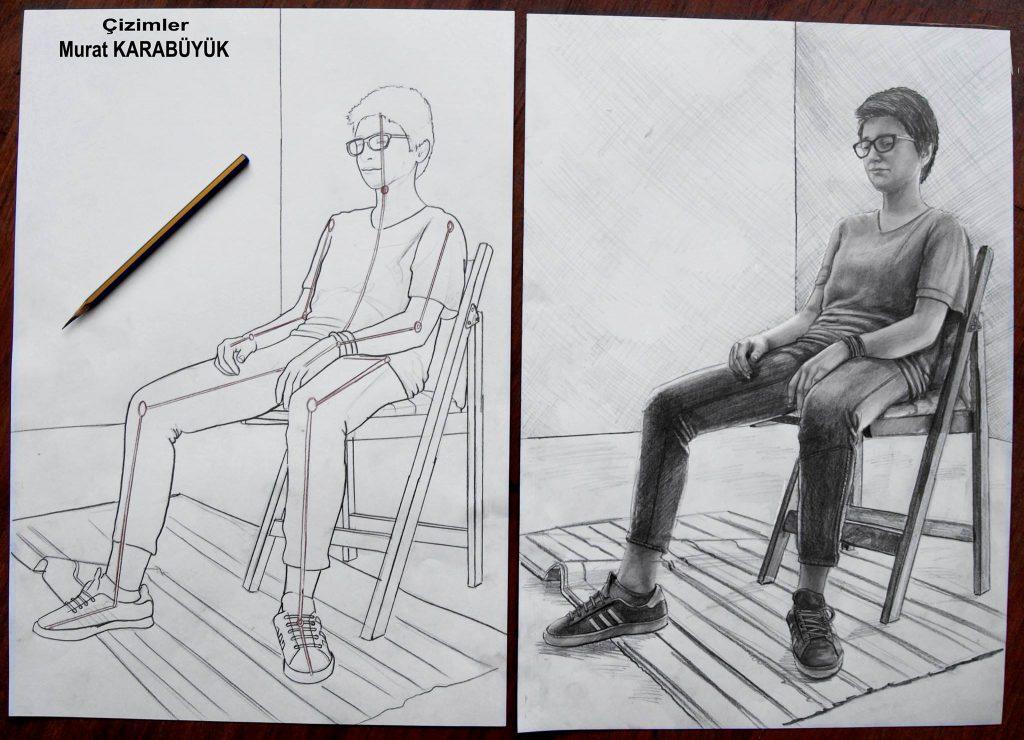 Karakalem Portre Sevgili Hediye İstanbul ankara sanat resim güzel sanatlar 1
