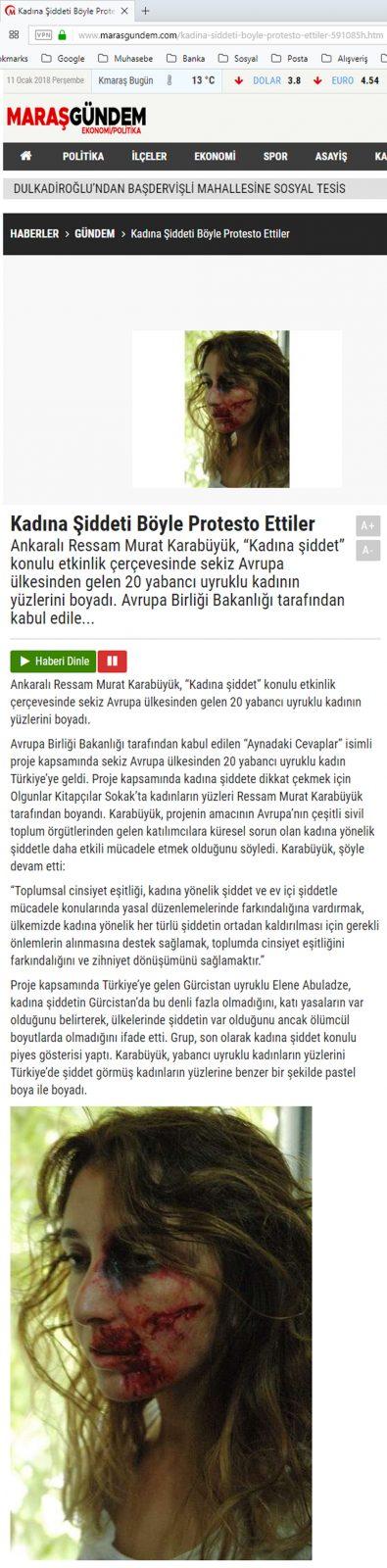 KADINA ŞİDDETİ BÖYLE PROTESTO ETTİLER