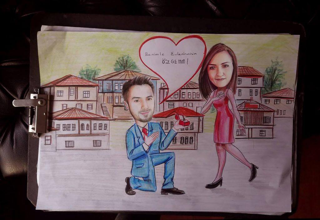karikatür portre hediye istanbul ankara komik sanat kadıköy 13