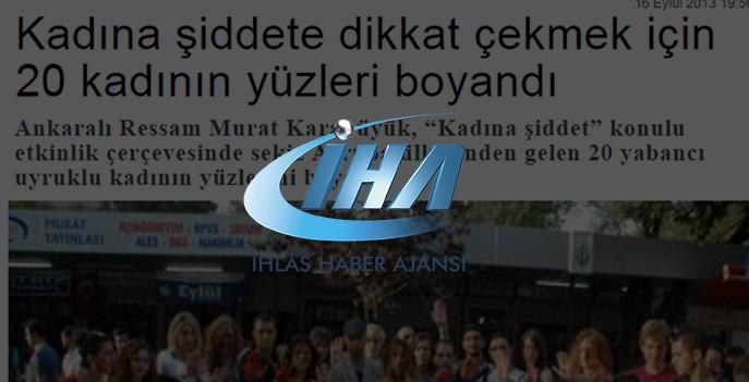 Kadına Şiddete Dikkat Çekmek İçin 20 Kadına Beden Boyama İstanbul